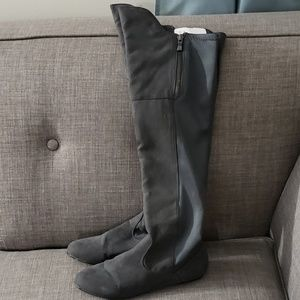 Qupid Over the Knee Tigh High Suade Boots